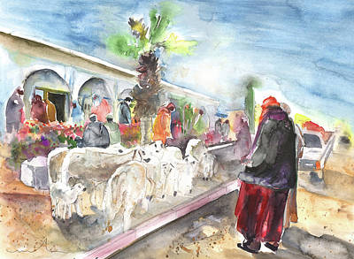 Marrakesh Painting - Morrocan Market 07 by Miki De Goodaboom