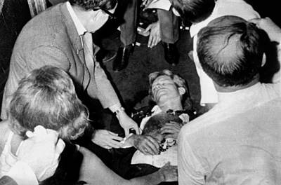 Rfk Photograph - Mortally Wounded Robert Kennedy. After by Everett