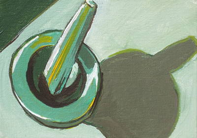 Mortar And Pestle Original by Sandy Tracey