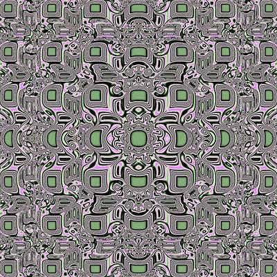 Mosaic Jade Pattern Print by Deborah Juodaitis