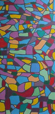 Painting - Mosaic Journey by Angelo Thomas