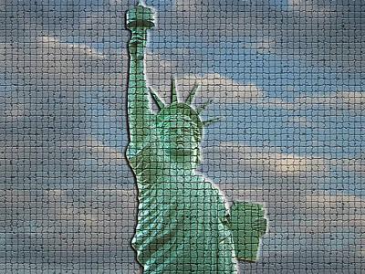 Mosaic Liberty Art Print