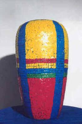 Mosaic Venetian Tile Floor Vase Original