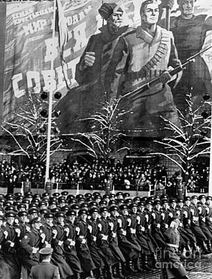 Photograph - Moscow: Military Parade by Granger