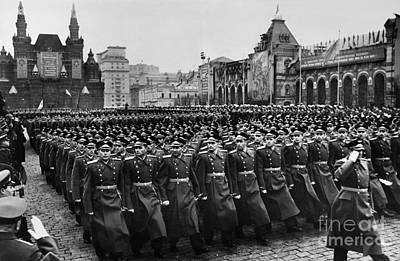 Photograph - Moscow: Troop Review, 1957 by Granger
