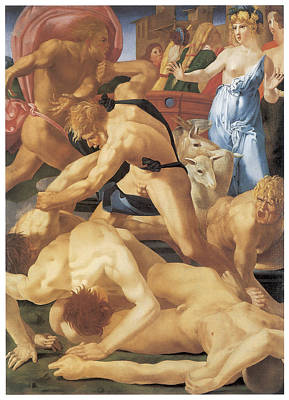 Moses And The Daughters Of Jethro Art Print by Rosso Fiorentino