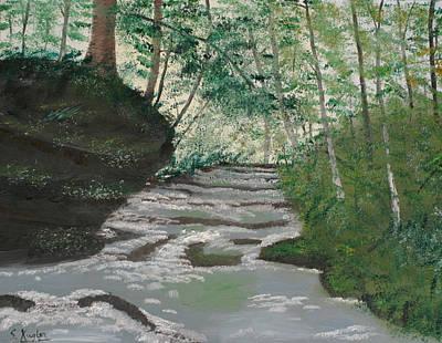 Kugler Painting - Mosquito Falls by Scott Kugler