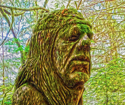 Moss Man Print by Gregory Dyer