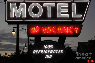 Motel - No Vacancy - 5d17747 Art Print by Wingsdomain Art and Photography