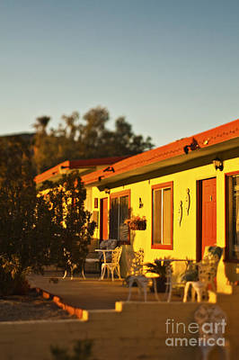 For Rent Photograph - Motel At Sunset by Eddy Joaquim