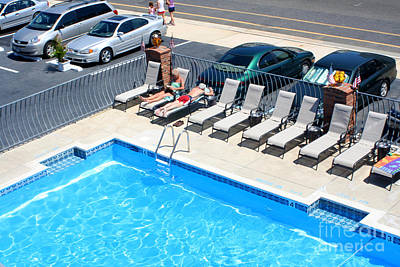 Photograph - Motel Pool And Surroundings by Susan Stevenson