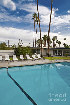 For Rent Photograph - Motel Swimming Pool by Eddy Joaquim