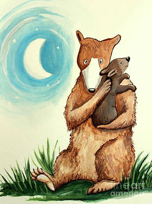 Painting - Mother And Baby Bear Lullaby by Elizabeth Robinette Tyndall
