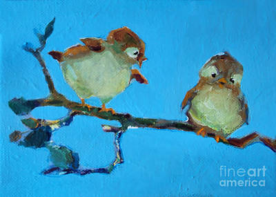 Painting - Mother And Baby Bird by Diane Ursin