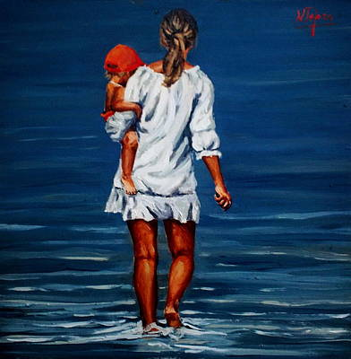 Painting - Mother And Baby by Natalia Tejera