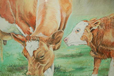 Pastel - Mother And Baby by Teresa Smith