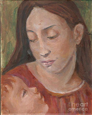 Painting - Mother And Child by Lyn Vic