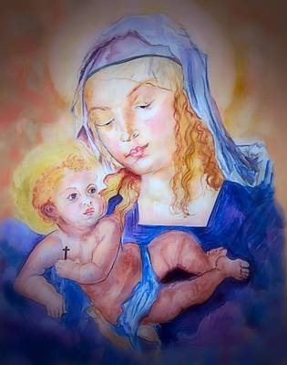 Mother And Child Art Print by Myrna Migala