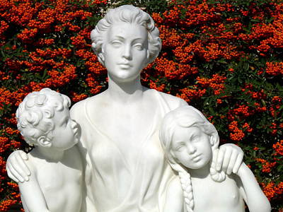 Photograph - Mother And Children by Jeff Lowe