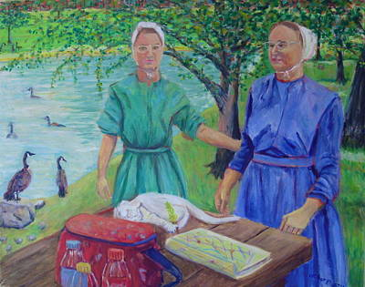 Mother And Daughter Lancaster Pa Original by Bonnie Wilber