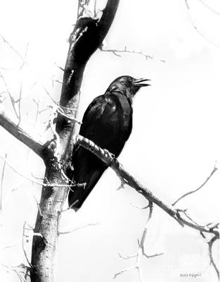 Mother Crow Art Print by Rhonda Strickland