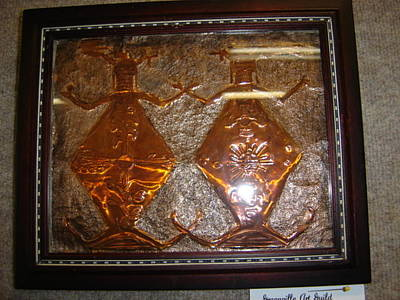 Embossed Copper Relief - Mother Earth Father Sky by Janise Noah