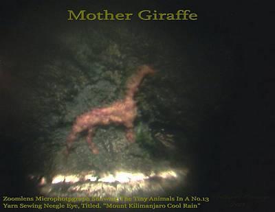 Jumbo Micro Art Painting - Mother Giraffe  by Phillip H George
