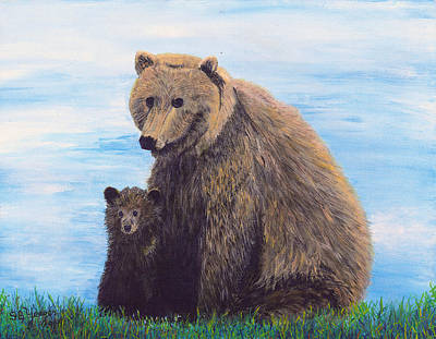 Painting - Mother Love  Two by Stuart B Yaeger