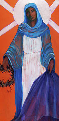 Tear Painting - Mother Mary In Sorrow by Mary DuCharme