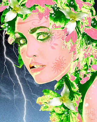 Mother Nature Art Print by Methune Hively