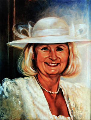 Ontario Portrait Artist Painting - Mother Of The Bride by Hanne Lore Koehler