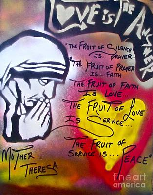 Mother Theresa Painting - Mother Theresa Fruits by Tony B Conscious