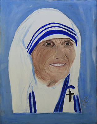 Painting - Mother Theresa by Swabby Soileau