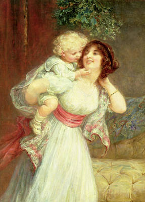 Mothers Darling Art Print by Frederick Morgan
