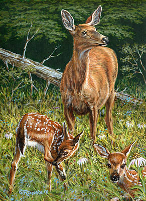 Animal Painting - Mothers Worry by Richard De Wolfe