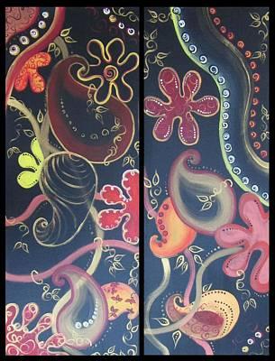 Yasmin Modi Painting - Motif 1 And 2 by Yasmin  Modi