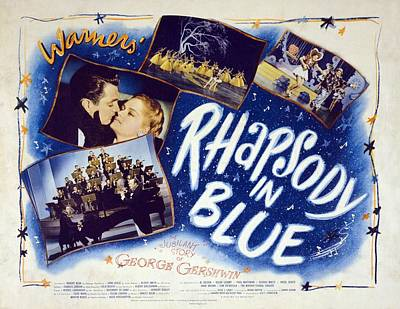 Motion Picture Poster For Rhapsody In Art Print by Everett