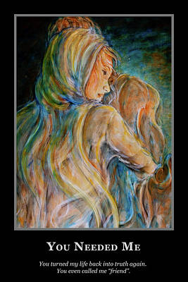 Painting - Motivational - Friendship - Mary Magdalene by Nik Helbig