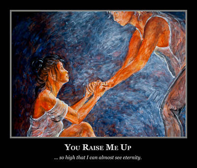 Couple Painting - Motivational Support  by Nik Helbig