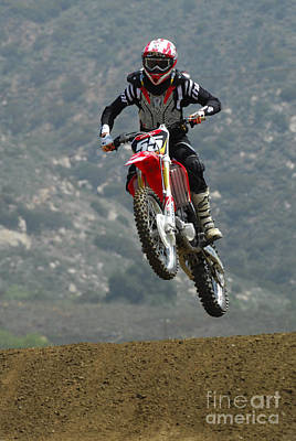 Photograph - Motocross Giving It by Bob Christopher
