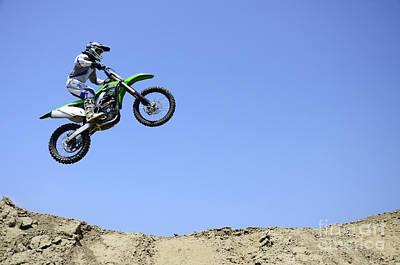 Photograph - Motocross Going Skyward by Bob Christopher