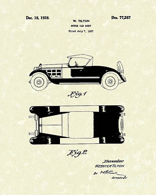 Motor Car Tilton 1928 Patent Art Art Print by Prior Art Design