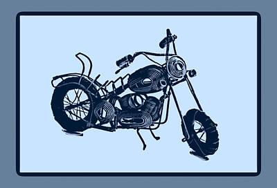 Motorbike 1a Print by Mauro Celotti