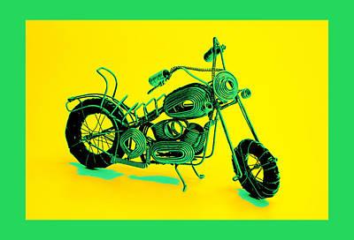 Celotti Pyrography - Motorbike 1b by Mauro Celotti