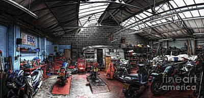 Photograph - Motorbike Garage by Yhun Suarez