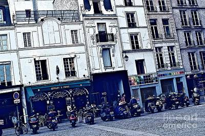 Motorcycle Row Art Print