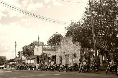 Motorcycle Cowboy Photograph - Motorcycles In Bandera by Nina Fosdick