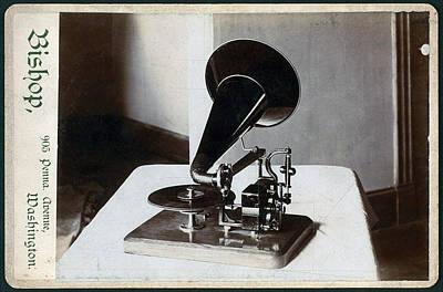 Motorized Gramophone, Circa 1890s Art Print by Everett
