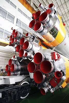 Rocket Photograph - Motors Of A Soyuz Rocket by Ria Novosti