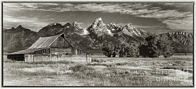 Photograph - Moulton Barn And The Grand Tetons by Sandra Bronstein
